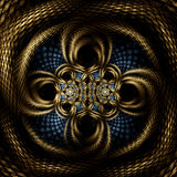 Filigree knot basket. Abstract fractal image resembling a filigree knot basket Royalty Free Stock Photo