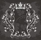 filigree kwiecisty graniczny royalty ilustracja