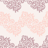 Filigree lace tracery in pastel colors. For wedding cards, invitation or scrapbook design.Soft and trendy color, swirls Royalty Free Stock Photos