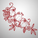 Filigree leaves for paper cutting. Stock Image