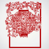 Filigree leaves for paper cutting. Stock Photo