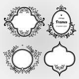 Filigree line art  frames in Eastern style. Stock Image