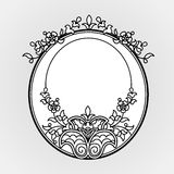 Filigree line art vector frames in Eastern style. Stock Photography