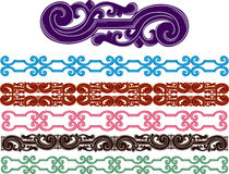 Filigree medieval patterns set Royalty Free Stock Images
