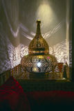 Filigree oriental lamp, seen in Morocco. Africa Stock Photo