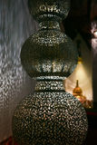 Filigree oriental lamp, seen in Morocco Stock Photo
