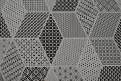 Filigree patterns on ceramic tile Decoration of the walls of the floor. Ceiling interior design of apartments offices royalty free stock photo