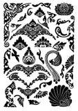 Filigree preto e branco ilustração stock