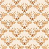 Filigree seamless with butterfly. Vector filigree seamless with butterfly. Royal wallpaper Stock Photography