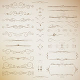 Filigree set of calligraphic elements for design Stock Photography