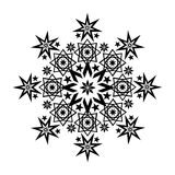 Filigree Star black 4. Black stars and ornaments forming the shape of a bigger star Royalty Free Stock Photography