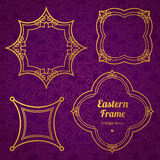 Filigree vector frame in Eastern style. Stock Image