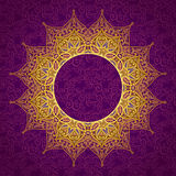 Filigree vector frame in Eastern style. Stock Photo