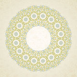 Filigree vector frame in Eastern style. Royalty Free Stock Photography