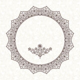 Filigree vector frame in Eastern style. Royalty Free Stock Image
