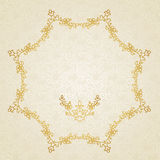 Filigree vector frame in Eastern style. Royalty Free Stock Images