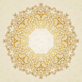 Filigree vector frame in Eastern style. Ornate element for design, place for text. Ornamental lace pattern for wedding invitations and greeting cards Royalty Free Stock Photography