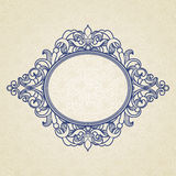 Filigree vector frame in Victorian style. Ornate element for design, place for text. Ornamental circle pattern for wedding invitations and greeting cards Stock Photography