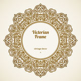 Filigree vector frame in Victorian style. Royalty Free Stock Photos