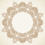 Filigree vector frame in Victorian style. Royalty Free Stock Images