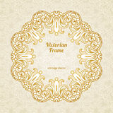 Filigree vector frame in Victorian style. Stock Photo