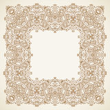 Filigree vector frame in Victorian style. Royalty Free Stock Photo
