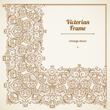 Filigree vector frame in Victorian style. Stock Photos