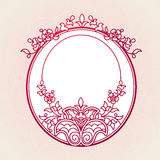 Filigree vector frames in Eastern style. Stock Photos