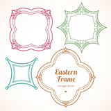 Filigree vector frames in Eastern style. Stock Photo