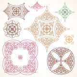 Filigree vector frames and vignettes in Eastern style. Royalty Free Stock Images
