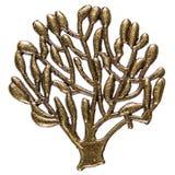 Filigree w postaci drzewnego, dekoracyjnego elementu dla manuału wo, Zdjęcia Royalty Free