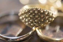 Filigree wedding ring Royalty Free Stock Image