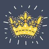 Filigree wysokość wyszczególniająca cesarska korona ilustracja wektor
