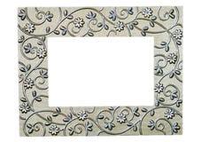 filigree zdjęcia ramowy srebra Zdjęcia Stock
