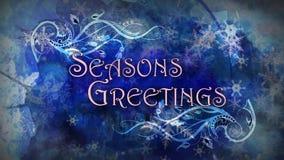 Filigrees de salutations de Season's illustration de vecteur