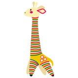 Filimonovo玩具便士口哨长颈鹿 库存照片