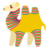 Filimonovo toy camel. Vector toy camel with pattern in national Russian Filimonovo  ornament isolated on white background Stock Photo