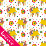 Filimonovo toy penny whistle camel. Seamless pattern Royalty Free Stock Photography