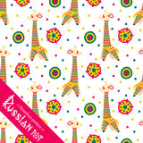 Filimonovo toy penny whistle giraffe. Seamless pattern Royalty Free Stock Photos