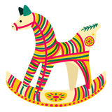 Filimonovo toy penny whistle horse. Vector toy horse with pattern in national Russian Filimonovo  ornament  on background Royalty Free Stock Photos