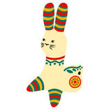Filimonovo toy penny whistle rabbit Royalty Free Stock Images