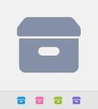 Filing Box - Granite Icons Royalty Free Stock Image