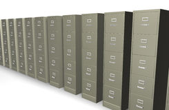 Filing cabinet. 3d filing cabinet on a white background Royalty Free Stock Photography