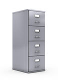 Filing cabinet. Isolated over white background Royalty Free Stock Photography