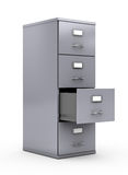 Filing cabinet. Isolated over white background Stock Photos