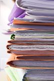 Filing cabinet #6. Heap of coloured files stock photography