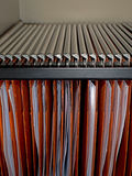 Filing cabinet files - office detail Stock Photos
