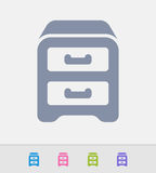 Filing Cabinet - Granite Icons Royalty Free Stock Photography