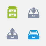 Filing Cabinet - Granite Icons. A set of 4 professional, pixel-perfect icons designed on a 32x32 pixel grid Royalty Free Stock Images