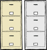 Filing Cabinet Illustration Royalty Free Stock Image